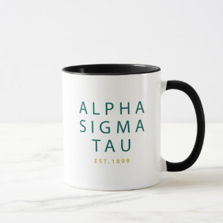Alpha Sigma Tau Modern Type Mug