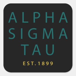 Alpha Sigma Tau Modern Type Square Sticker
