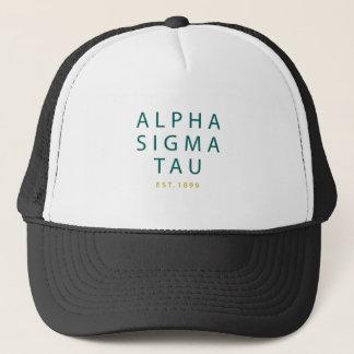 Alpha Sigma Tau Modern Type Trucker Hat