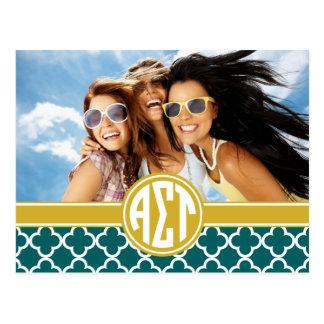 Alpha Sigma Tau | Monogram and Photo Postcard