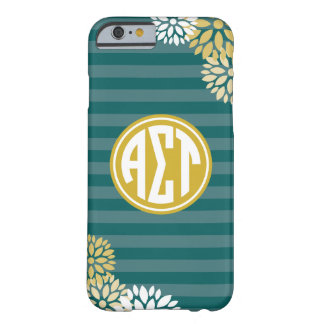Alpha Sigma Tau | Monogram Stripe Pattern Barely There iPhone 6 Case