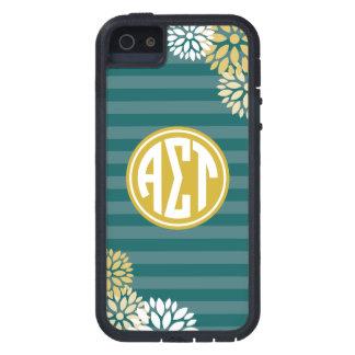 Alpha Sigma Tau | Monogram Stripe Pattern iPhone 5 Covers