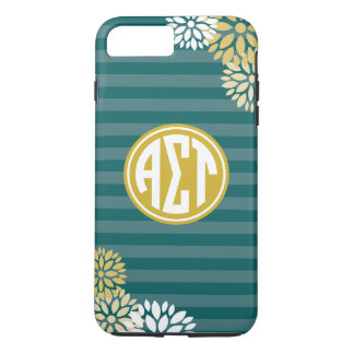 Alpha Sigma Tau | Monogram Stripe Pattern iPhone 8 Plus/7 Plus Case