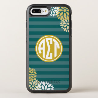 Alpha Sigma Tau | Monogram Stripe Pattern OtterBox Symmetry iPhone 8 Plus/7 Plus Case
