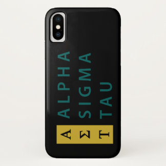 Alpha Sigma Tau Stacked Case-Mate iPhone Case