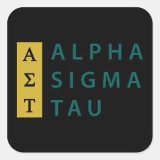 Alpha Sigma Tau Stacked Square Sticker