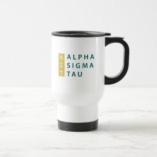 Alpha Sigma Tau Stacked Travel Mug