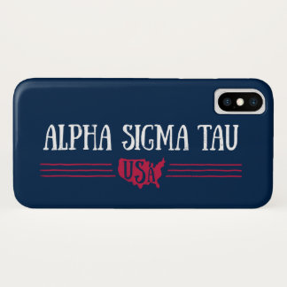 Alpha Sigma Tau USA iPhone X Case