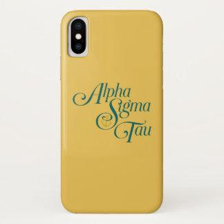 Alpha Sigma Tau Vertical Mark 2 iPhone X Case