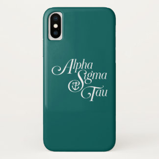 Alpha Sigma Tau Vertical Mark Case-Mate iPhone Case