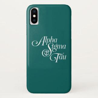 Alpha Sigma Tau Vertical Mark iPhone X Case