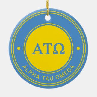 Alpha Tau Omega | Badge Ceramic Ornament