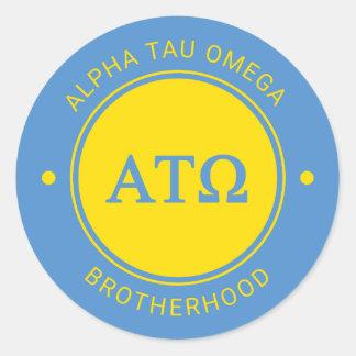 Alpha Tau Omega | Badge Classic Round Sticker