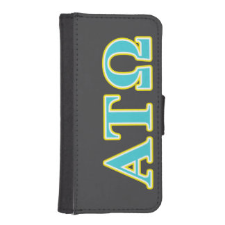 Alpha Tau Omega Blue and Yellow Letters iPhone SE/5/5s Wallet Case