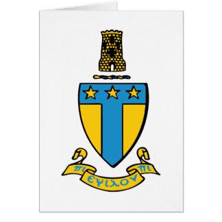 Alpha Tau Omega Color Crest Card