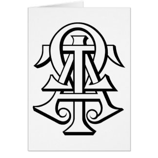 Alpha Tau Omega Interlocked Letters Card