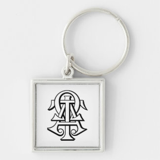 Alpha Tau Omega Interlocked Letters Keychain