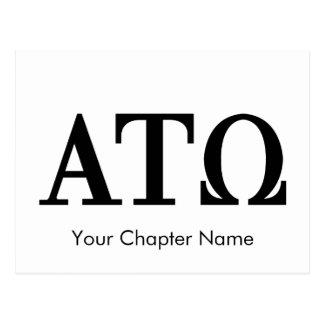 Alpha Tau Omega Letters Postcard