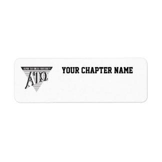 Alpha Tau Omega Name and Letters Return Address Label