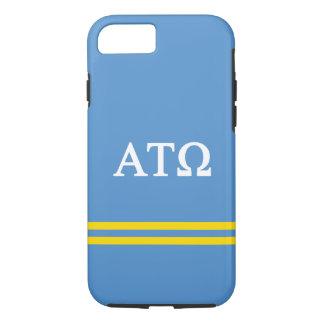 Alpha Tau Omega   Sport Stripe iPhone 8/7 Case
