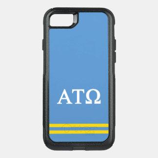 Alpha Tau Omega   Sport Stripe OtterBox Commuter iPhone 8/7 Case
