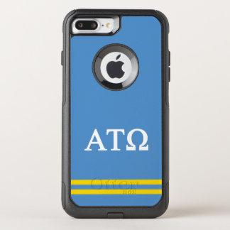 Alpha Tau Omega   Sport Stripe OtterBox Commuter iPhone 8 Plus/7 Plus Case