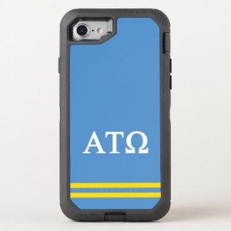 Alpha Tau Omega   Sport Stripe OtterBox Defender iPhone 8/7 Case