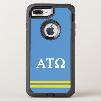 Alpha Tau Omega   Sport Stripe OtterBox Defender iPhone 8 Plus/7 Plus Case