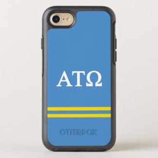 Alpha Tau Omega   Sport Stripe OtterBox Symmetry iPhone 8/7 Case