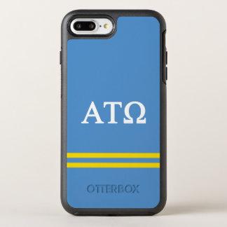 Alpha Tau Omega   Sport Stripe OtterBox Symmetry iPhone 8 Plus/7 Plus Case