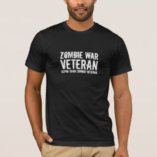 Alpha Team - Zombie War Combat Veteran T-Shirt
