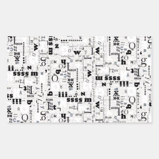 Alpha Type Sticker