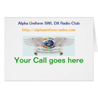 Alpha Uniform Folded QSL Cards