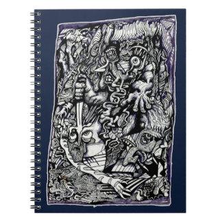 Alpha Warrior, by Brian Benson Notebook