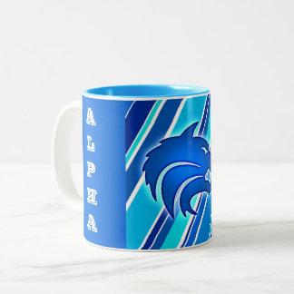 Alpha Wolf Two-Tone Coffee Mug