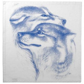 Alpha Wolves Love Art Napkin