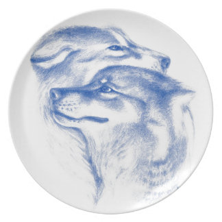 Alpha Wolves Love Art Plate
