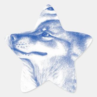 Alpha Wolves Love Art Star Sticker