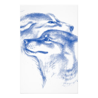Alpha Wolves Love Art Stationery