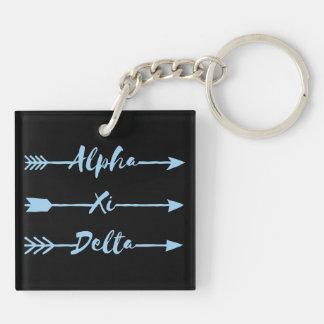 Alpha Xi Delta Arrow Keychain