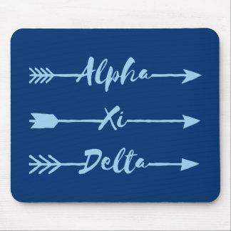 Alpha Xi Delta Arrow Mouse Pad