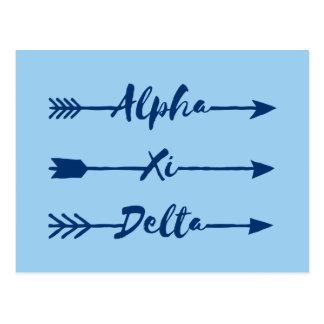Alpha Xi Delta Arrow Postcard