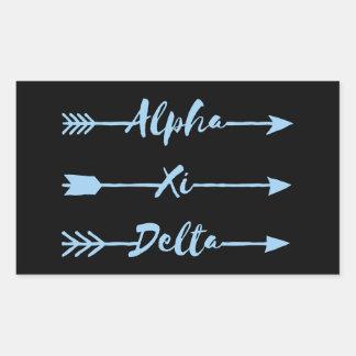 Alpha Xi Delta Arrow Sticker