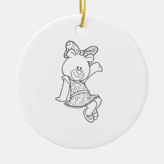 Alpha Xi Delta Bear Ceramic Ornament