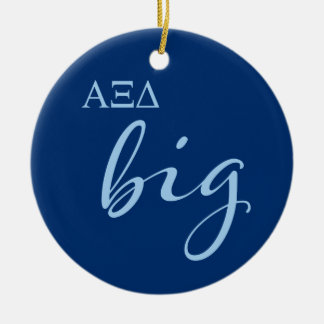 Alpha Xi Delta Big Script Ceramic Ornament