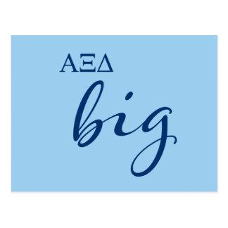 Alpha Xi Delta Big Script Postcard
