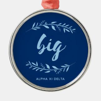 Alpha Xi Delta Big Wreath Metal Ornament
