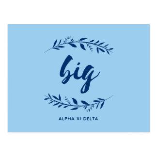 Alpha Xi Delta Big Wreath Postcard
