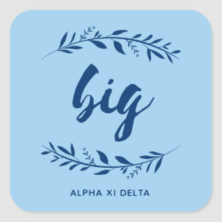 Alpha Xi Delta Big Wreath Square Sticker
