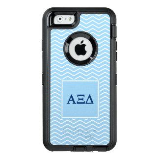 Alpha Xi Delta   Chevron Pattern OtterBox Defender iPhone Case